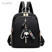 89e26a2ca1c3 Fashion Oxford Backpack Women Alphabet Print Bear Cubs shoulder Student  Style Splicing Cartoon image Shoulder Bag DropShipping