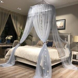 Mosquitera redonda colgante, mosquitera de malla fina para cama doble, mosquitera para cama de bebé, tienda de campaña de red para dosel, decoración para dormitorio