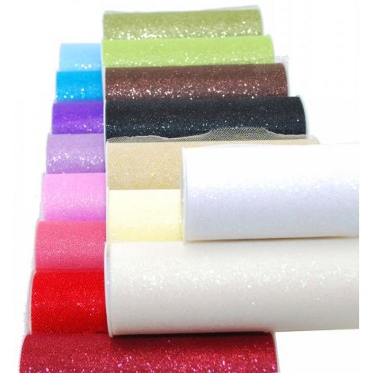 """6/"""" Glitter Tulle Roll Spool 16 Colors Wedding Bow Decoration Craft 25 Yard"""