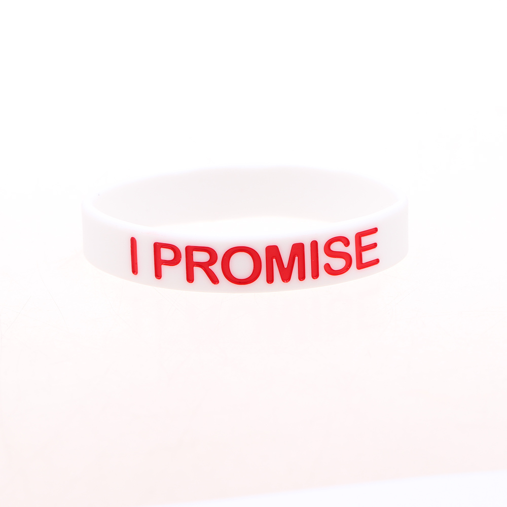 I SHOW Ali Store NO. 66 I Promise bracelet Basketball Sports Wristband Silicone Gym Fitness Power Bands Energy Bracelets For Man Women high quality gift