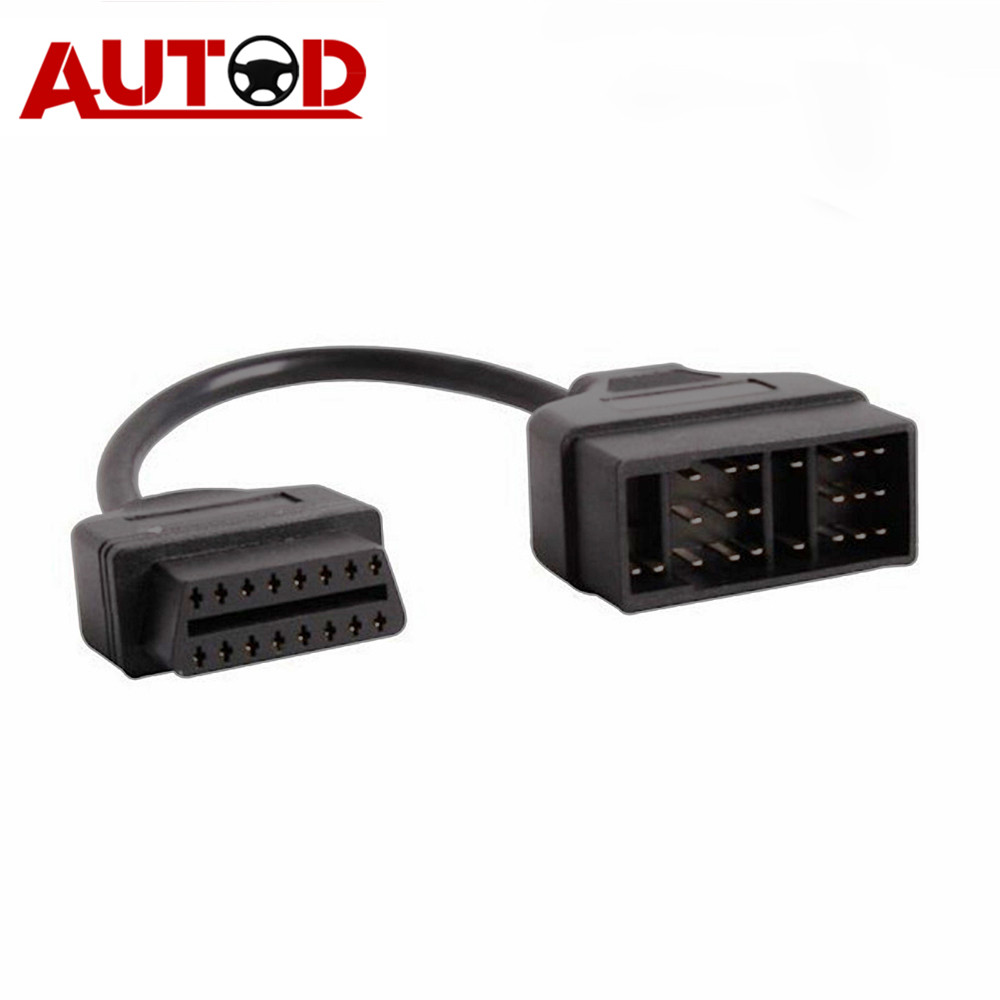 <font><b>OBD2</b></font> Cable for <font><b>Toyota</b></font> 22PIN OBD Connector <font><b>22</b></font>-16PIN Diagnostic Cable Auto Connector <font><b>22</b></font> <font><b>PIN</b></font> Cable <font><b>Adapter</b></font> for Toyota22 image