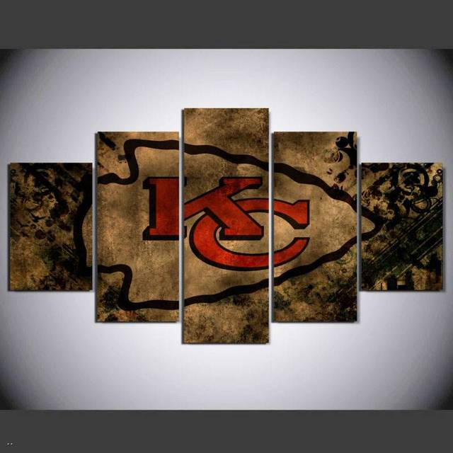 Hd Printed Kansas City Chiefs 5 Pieces Painting On Canvas Decoration Print Poster Picture Canvas Wall & Hd Printed Kansas City Chiefs 5 Pieces Painting On Canvas Decoration ...