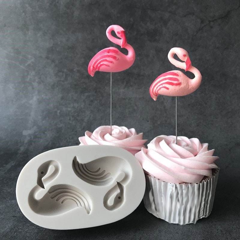 3D Flamingo Bird Silicone Fondant Mold Cake Decorating Chocolate Baking Mould