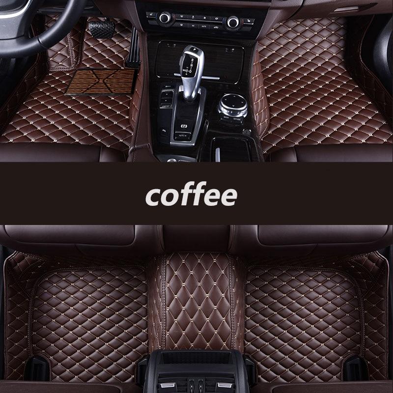 Kalaisike Custom tapetes do carro para a Land Rover Todos Os Modelos Range rover Evoque Esporte Freelander Descoberta 3 4 5 auto styling