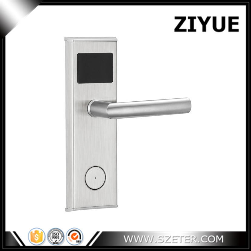 125kHZ Zinc Alloy Stainless Steel RF RFID Card Key Hotel Lock  for Hotel Apartment Office Home  ET100RF hotel lock system rfid t5577 hotel lock gold silver zinc alloy forging material sn ca 8037