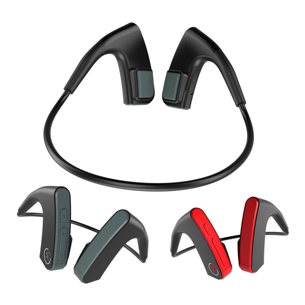 E1 casque Bluetooth à Conduction osseuse sans fil Sport de plein air en cours d'exécution Bluetooth 4.1 casque avec Microphone choc basse écouteur