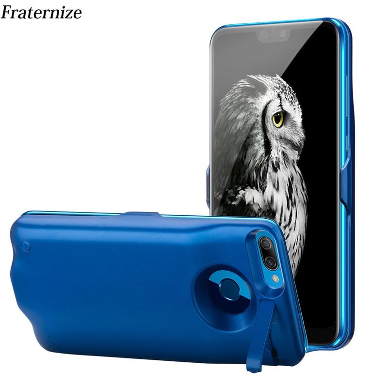 6000 мАч батарея случае для Huawei Honor 9 Lite зарядное устройство чехол Сельма ударопрочный внешний аккумулятор зарядное устройство задняя крышка ...