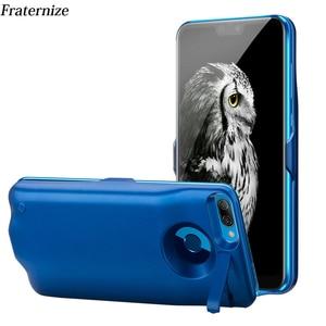 Image 1 - 6000 mAh Batterij Case Voor Huawei Honor 9 Lite Charger Case Silm schokbestendig power bank Charger Back Cover powerbank Gevallen capa