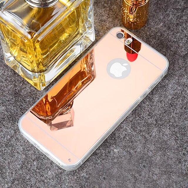 Изысканный гальванический зеркальный Чехол для iPhone6 6 S 5 S SE 6 Plus 6 S Plus прозрачный мягкий ТПУ чехол + акриловая задняя крышка