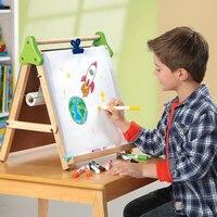 Holz Multifunktions Reißbrett Drei-in-one Auf Die Tabelle Fine Arts Schwarz Und Weiß Marke Kinder Zeichnung spielzeug
