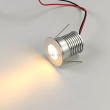 ミニスポット led ダウンライト 12 ボルト 24 ボルト 3 ワット Cree ラウンド LED 小さな凹型天井スポットランプ plafon ポットライトキャビネットショーケース照明
