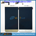 "Top Quality 5.5"" Screen For Coolpad Modena E501 LCD Display+Touch Screen Digitizer Assemble Black White Gold Color"