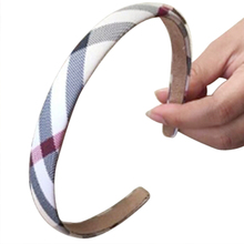 SCYL WHOLESALE Women's Hair Accessories Scottish tartan Broadside pressure Hairpin clip Headband