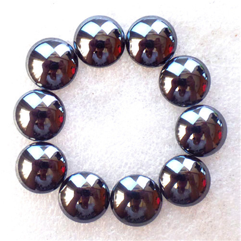 (10 pieces/lot) Wholesale Natural Hematite Round CAB CABOCHON 12x4mm Free Shipping Fashion Jewelry Z4767