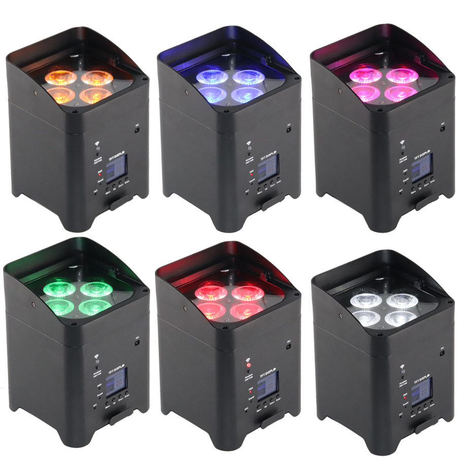 Disko ekipmanları sahne aydınlatma kablosuz pilli led uplights|Sahne Aydınlatması Efekti|Işıklar ve Aydınlatma -
