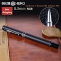 Grade gems metal roller pen Matte black ball pen office & school stationery with Black ink refill free shipping