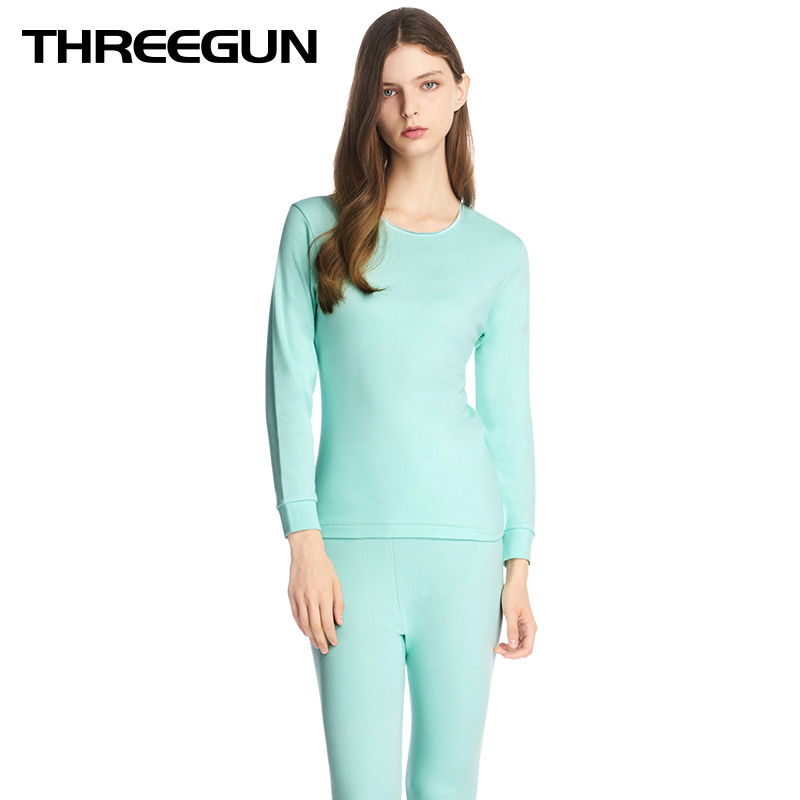 THREEGUN Winter Thermal Underwear Suit 2019 New Long Johns Body Shaped Keep Warm Long Sleeve Long Johns Seamless Blusa Termica
