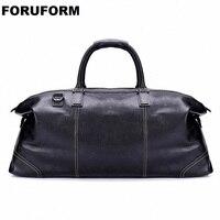 Модная сумка из натуральной кожи для путешествий, мужская кожаная сумка для багажа, дорожная сумка, большая сумка для путешествий, вечерняя