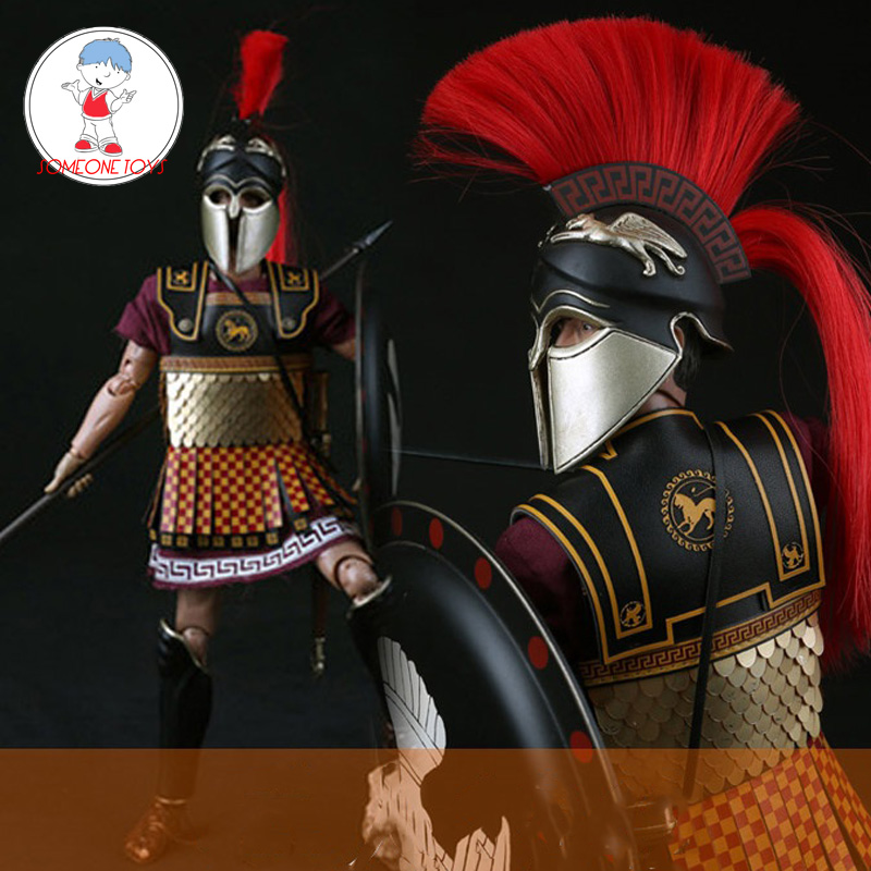 "China Toys ZH008 1//6 Scale Greece Shield Spearmen Soldier 12/"" Figure Sword Model"