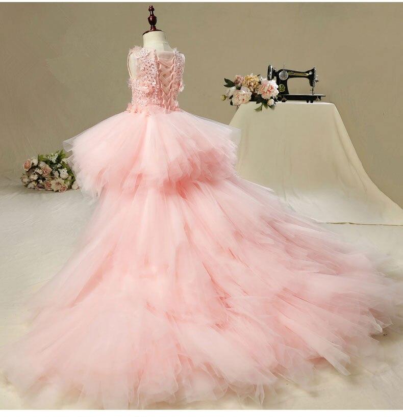 o casamento rosa tutu floral criancas pageant 02