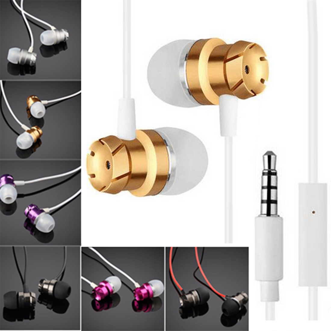 For All MobilePhone Accessories Headset Metal Turbine In-ear Headphones With Mic Brand New & High Quality earfun brand big headphones with mic