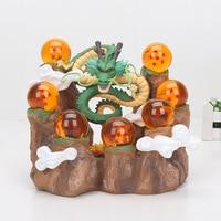 15cm Dragon Ball Z Action Figure Son Goku Shenlong shenron Mountain background PVC Figure model Toys