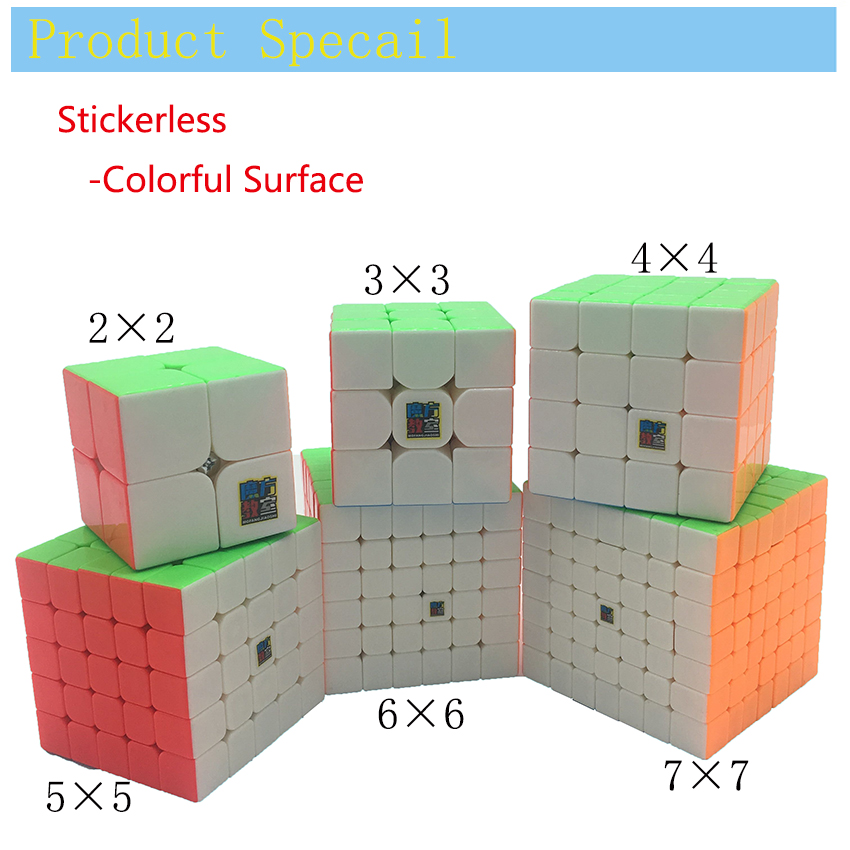 Magic Cube Speed 3x3x3 2x2x2 4x4x4 5x5x5 6x6x6 7x7x7 Cubo Magico 2x2 3x3 4x4 5x5 6x6 7x7 Puzzle Neo cube Toy Kid Gifts