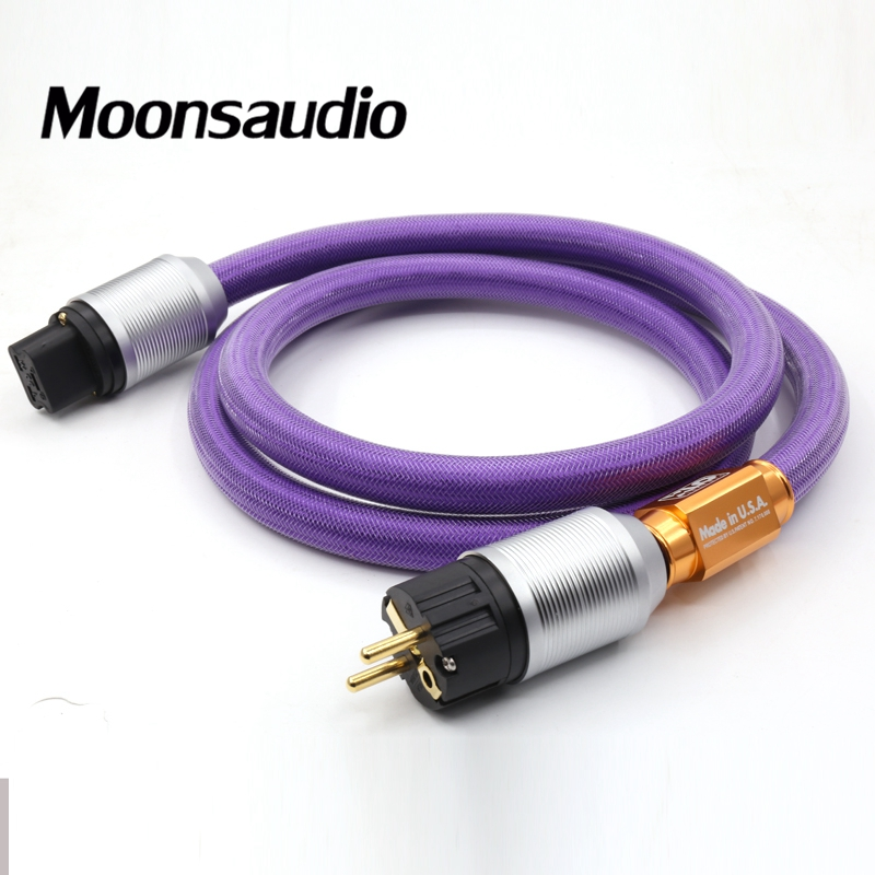 Free shipping Moonsaudio XLO Limited Edition LE2-10 EU AC Power Cord With SCHUKO power plugs & 20A IEC connection