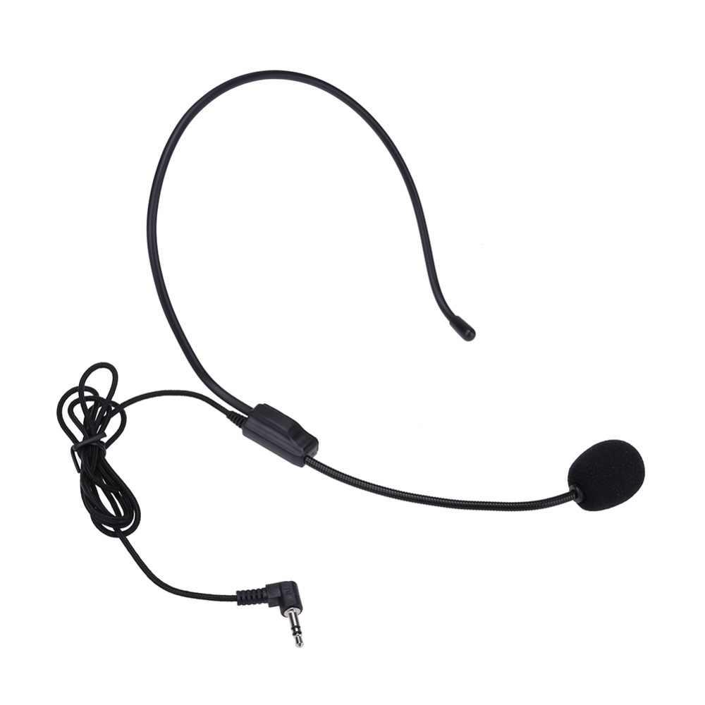 ALLOYSEED портативная гарнитура микрофон проводной 3,5 мм разъем конденсаторный микрофон универсальный для громкоговорителя для гида тура обучение лекции