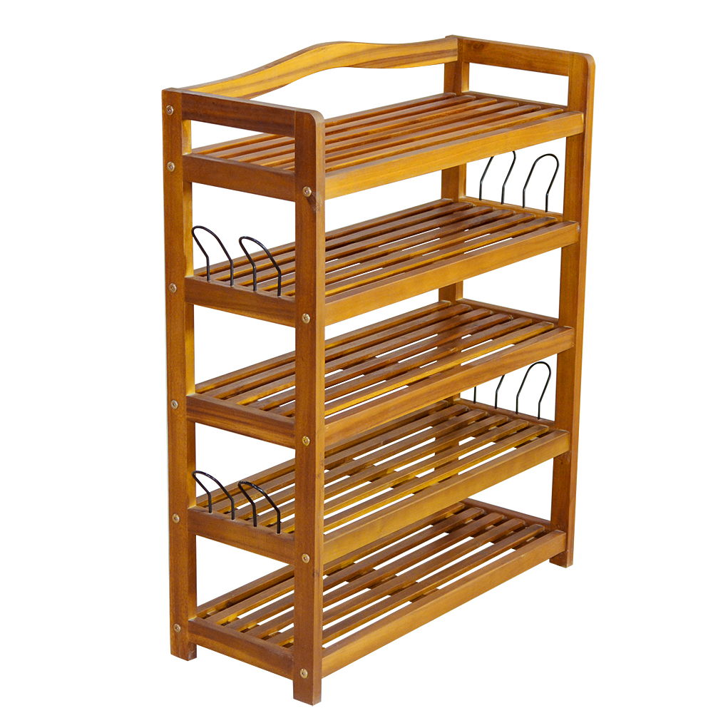 купить  Acacia Wooded Shoe Rack Living Room Furniture HOT SALE  недорого