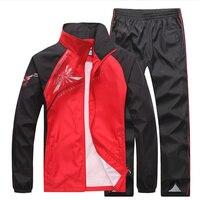 2018 Men S Set Spring Autumn Men Casual Sportswear 2 Piece Set Sporting Suit Jacket Pant