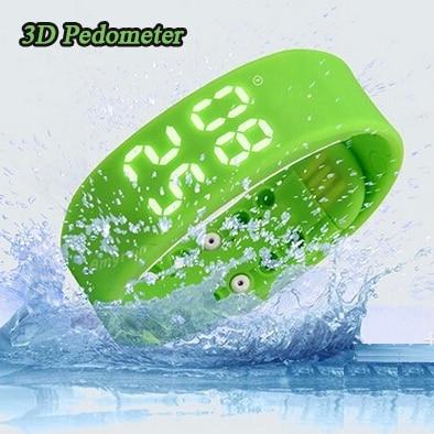 3D Pedometer Bracelet Sleep Monitor USB Smart Wristband Waterproof Silicone Sports Fitness Step Tracker Calories LED Llashlight - Dreamer Electronic Co., Ltd store