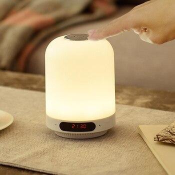 多機能の Bluetooth スピーカー FM ラジオ充電ベッドサイド夜の光サポート AUX JDH99