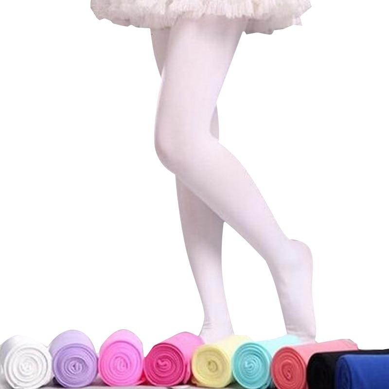2018 Spring Candy Color Kids Pantyhose Ballet Dance Tights for Girls Stocking Children Velvet Solid White Pantyhose Girls Tights spring autumn candy color children tights for baby girls kids cute velvet pantyhose tights stockings for girls dance tights