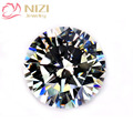 Crystal Color Brilliant Cubic Zirconia Stones Round Shape Pointback Cubic Zirconia Beads Nail Art Decorations 4-18mm