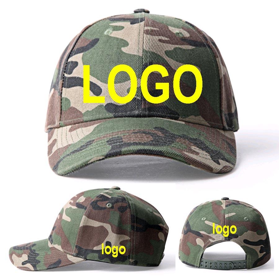 3ae015575ac65 camouflage Snapback LOGO Hats Adult Custom Baseball caps 3D Embroidery LOGO  hats Sun CAMO Peaked Army Green Cap