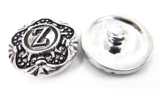 無料ドロップシッピング 1.8-2 センチ合金手紙z デザイン チャーム diy ボタン メタル チャーム