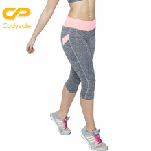 Codysale Women Leggings 2017 Casual Fitness Leggings Leisure Exercise Stretch Capris High Elastic Slim Workout Quick-Dry Pants