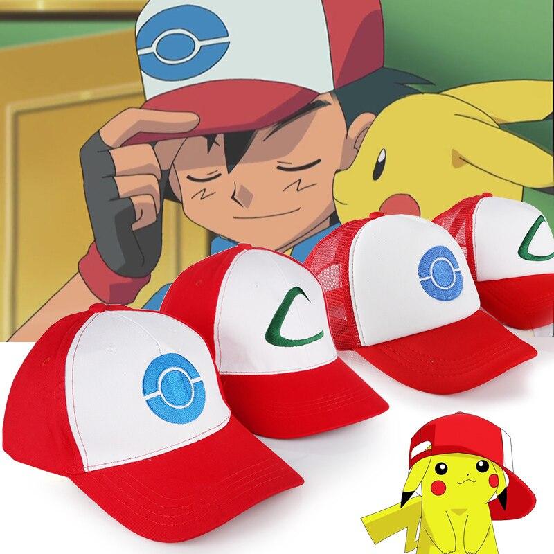 eb61055dfae7a pokemon go Cosplay Costume props 2 Style to Choose Anime POKEMON Ash Ketchum  Adjustable Curved Visor
