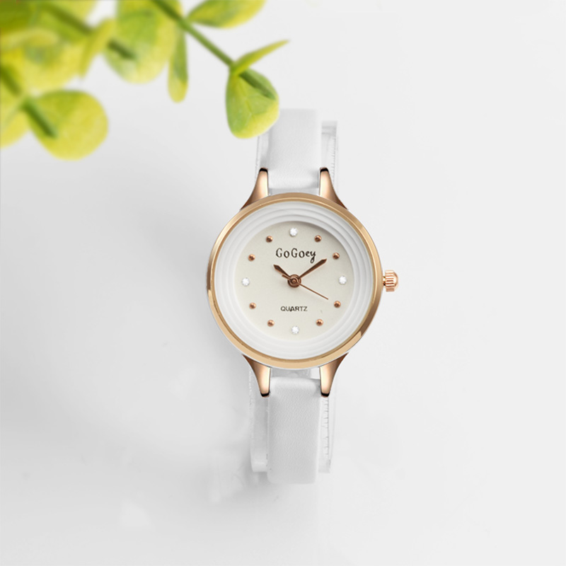 GOGOEY Young Ladies Luxury White Pointer Watch Dropshipping Fashion Casual Clock Women Watches Simple Quartz Watch Reloj Mujer
