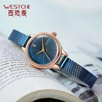 2018 Fashion Mesh Belt Women Watches High Quality Stainless Steel Luxury Casual Clock Ladies Quartz Wrist Watch Slim Rose Gold