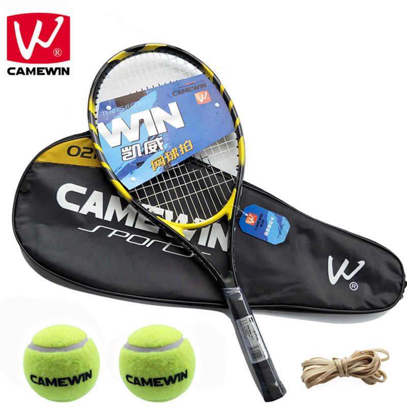 CAMEWIN Brand 1 Piece Carbon Fiber Tennis tenis masculino Men and Women Racket with Tennis Bag raquete de tenis