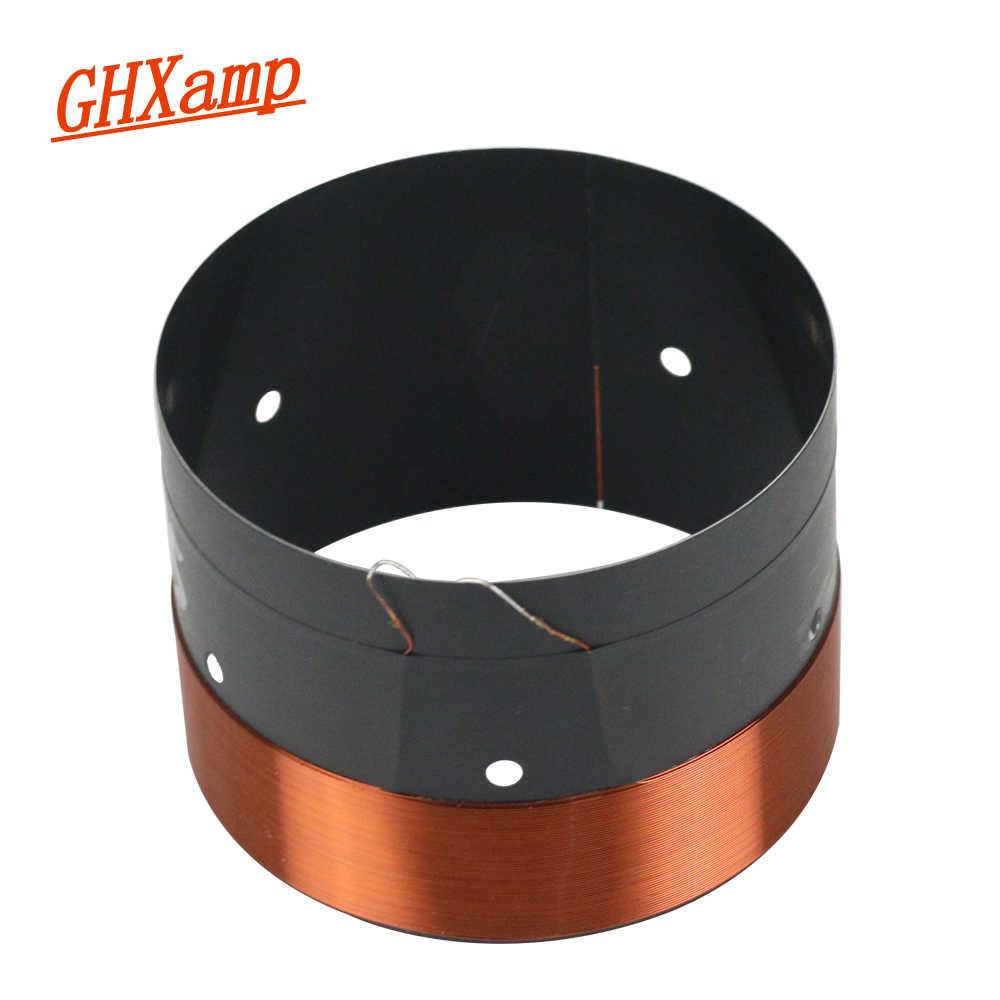 GHXAMP 75.5 rdzeń gitara basowa cewka drgająca z czarnego aluminium z dźwiękiem wylot powietrza otwór 75.5mm dla 10 cal-18 cal głośnik subwoofer 8OHM
