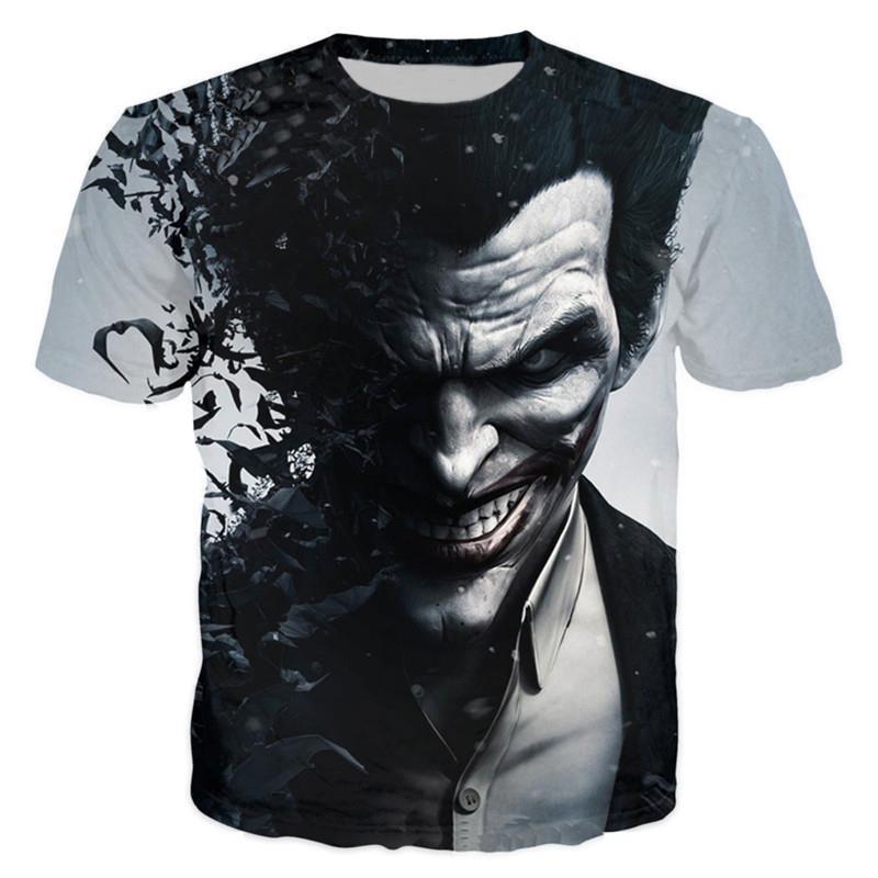 Suicidio squad Womens mens Harley Quinn el Joker T Camisas hombre 3D camiseta negro rojo manga corta ropa