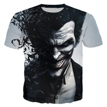 Suicide Squad Womens Mens Harley Quinn The Joker T Shirts Man 3D T Shirt Black Red Short Sleeve Clothes 2017 spring summer kids clothes children t shirts for boys girls suicide squad the joker 100