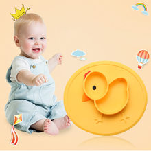 Baby Suction Silicone Chicken Plates Food Feeding Placemats For Toddlers And Kids dinner plates dishes sets dinnerware 2019(China)