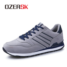 OZERSK Cow Suede Men Sneakers Fashion Summer Outdoor Shoes