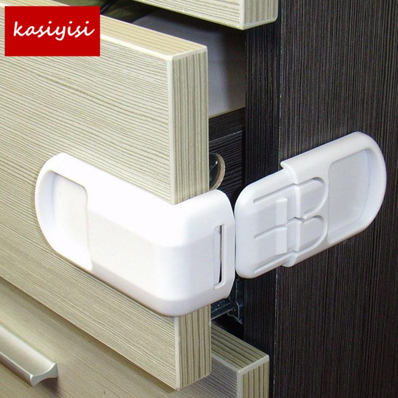 2pcs/lot Baby Multi Function Drawer Lock Baby Safety Drawer Lock Kids Plastic Cabinet Locker