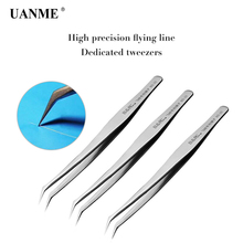 UANME alloy tweezers professional maintenance tool precision fingerprint main board copper wire