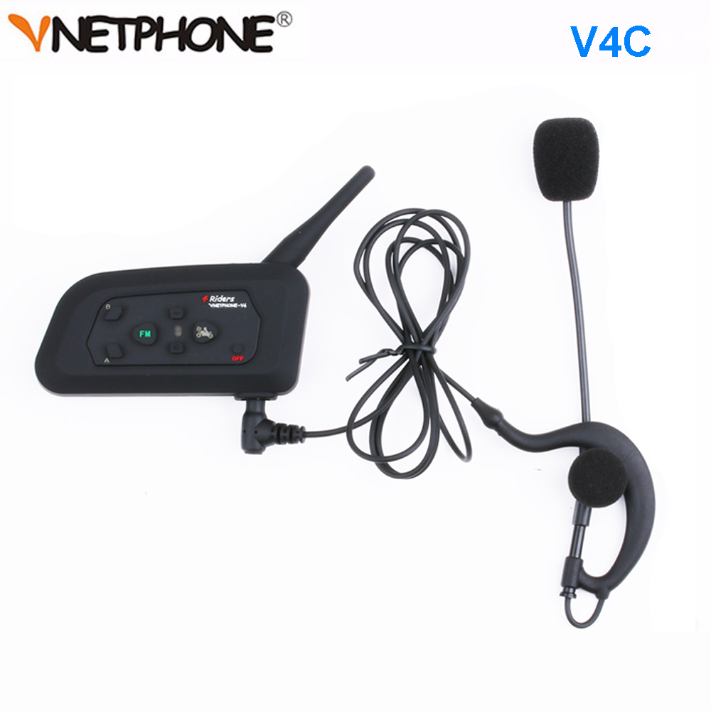 Image 2 - 3 Users Football Referee Intercom Headset Vnetphone V4C V6C 1200M Full Duplex Bluetooth Headphone Soccer Conference InterphoneHelmet Headsets   -